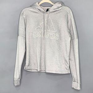 Adidas Mesh Grey Hoodie